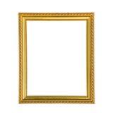 Golden photo frame Royalty Free Stock Image