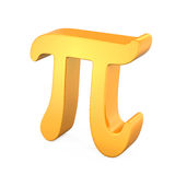Golden Pi Symbol Stock Photography
