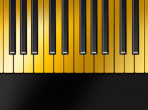 Golden piano Royalty Free Stock Photo