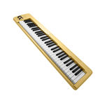 Golden piano keyboard Stock Photo