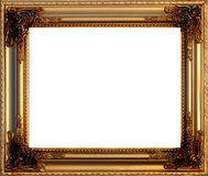 Golden picture frame. Clear golden picture frame with the side highlighting Stock Photography