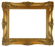 Golden Picture Frame Stock Photography