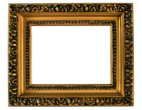 Golden Picture Frame. stock photos
