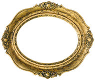 Golden picture frame cutout Royalty Free Stock Photo