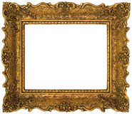 Golden Picture Frame Cutout. Empty Gilded Golden Picture Frame CutoutnAdditional File format is transparent .png Stock Image