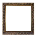 Golden picture frame isolated Stock Photography
