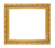 Golden picture frame isolated Royalty Free Stock Images