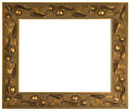 Golden picture frame isolated Stock Images