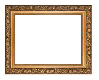 Golden picture frame isolated Royalty Free Stock Photo