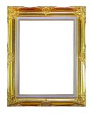 Golden picture frame isolated Royalty Free Stock Photography