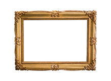 Golden picture frame isolated on white background. The golden picture frame isolated on white background Royalty Free Stock Photography