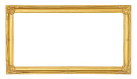 Golden picture frame isolated on white background Royalty Free Stock Images
