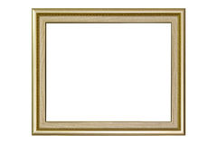 Golden picture frame Stock Image
