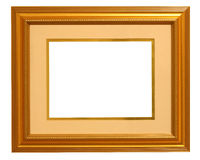Golden Picture Frame with Mat Stock Photo