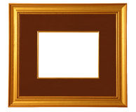 Golden Picture Frame with Mat stock photos