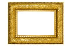 Golden Picture Frame with Ornaments Royalty Free Stock Image
