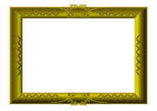 Golden picture frame swirls Royalty Free Stock Photo