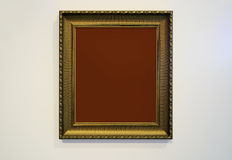 Golden Picture Frame and wall texture photo Royalty Free Stock Photos