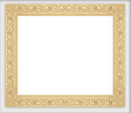 Golden picture frames collection Stock Images
