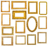 Golden picture frames Royalty Free Stock Image