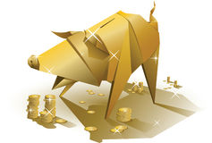 Golden pig Stock Photo