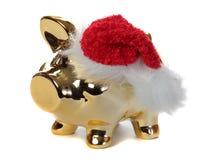 Golden piggybank with jelly bag cap Stock Photography