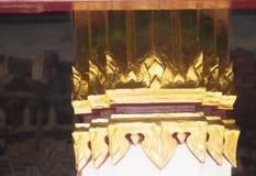 Golden pilar in wat pra kaew grand palace. In thailand, it beautiful place stock photo