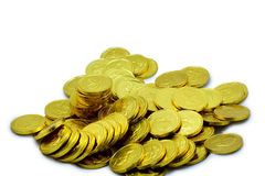 Golden Pile 2. A pile of Golden Coins' of chocolate favorites Royalty Free Stock Photography