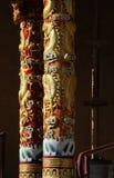 Golden pillars Stock Photos