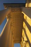 Golden pillars vilnius Royalty Free Stock Photo