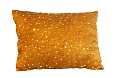Golden pillow Royalty Free Stock Image