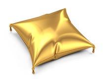 Golden pillow. Isolated on white background vector illustration