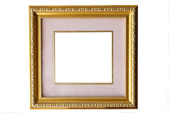 Golden and pink classical vintage frame isolate Stock Photo