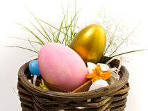 Golden and pink Easter egg Stock Photography