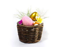 Golden and pink Easter egg Stock Image