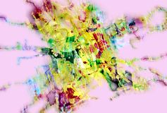 Pink green muddy playful shapes, forms, abstract pastel hues. Golden pink golden muddy playful forms and shapes in pastel vivid hues are placed on abstract stock images