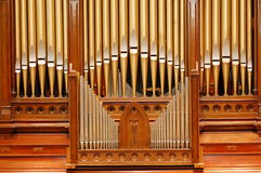 Golden Pipe organ Stock Photos