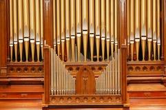 Golden Pipe organ Stock Photos