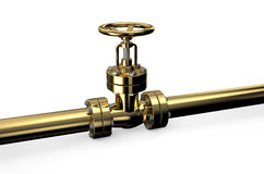 Golden pipeline Royalty Free Stock Photography