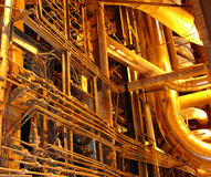 Golden pipelines Stock Images