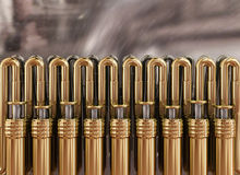 Golden pipes Royalty Free Stock Image