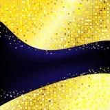 Golden pixel background Stock Images