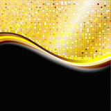 Golden pixel background Royalty Free Stock Photography