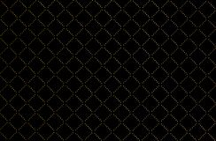 Seamless Golden Checkered Texture in Black Background royalty free stock images