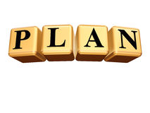 Golden Plan isolated Stock Photography