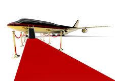 Golden Plane concept Royalty Free Stock Image