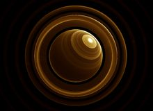 Golden planet and rings Royalty Free Stock Photo