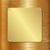 Golden plaque Royalty Free Stock Image