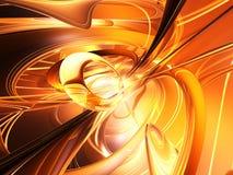 Golden Plasma. A rendering of golden plasma Stock Photos