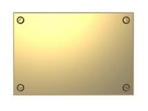 Golden plate Stock Photos